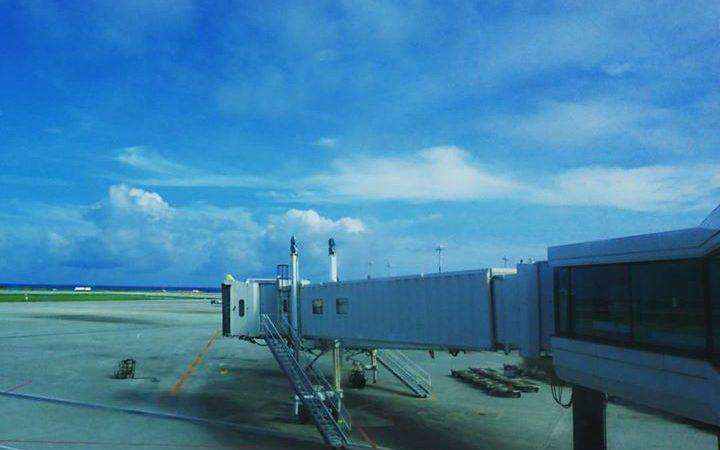 晴れの那覇空港